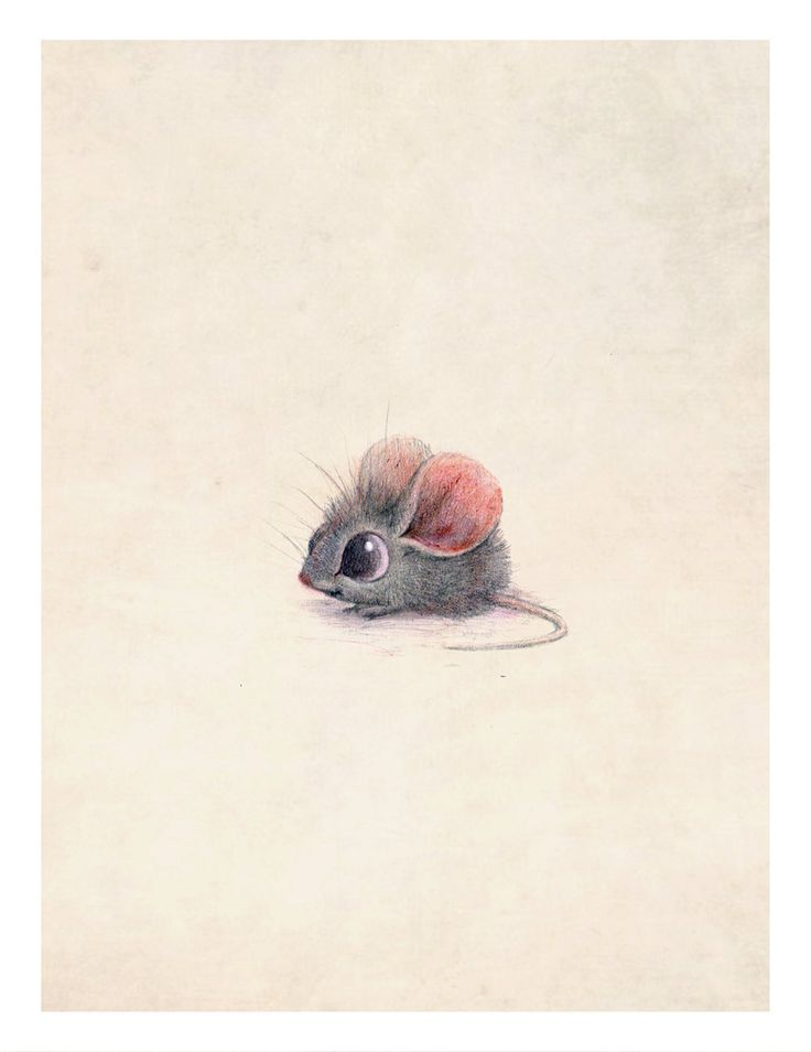 8x10 mouse print on felted paper by PentwaterPaper on Etsy