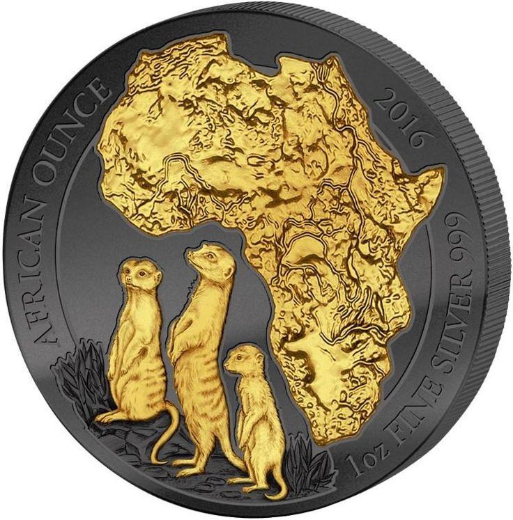 2016 1 Ounce Golden Enigma African Meerkat Silver Coin Set – ArtInCoins