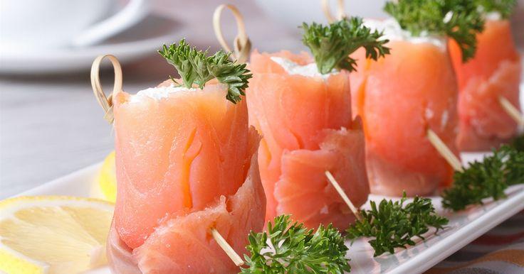 Salmon cream cheese roll ups | OverSixty