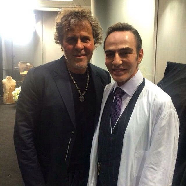 "Renzo Rosso and John Galliano at the Maison Margiela fashion show ,Jan 12,2015 London- ""John is a real pro, I am so happy to have him,"" Rosso"