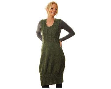 spencer kjole voksen kvinde hamelton tweed bc strikkeopskrift download strikkepinden.com