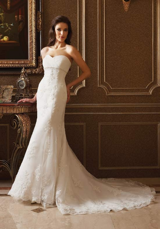 57a191fd9034 Mermaid Sweetheart Floor Length Attached Organza  Italian Satin Beading  Wedding Dress Style F204 · Svadobné ŠatySvadobné ŠtýlyDlhé ...