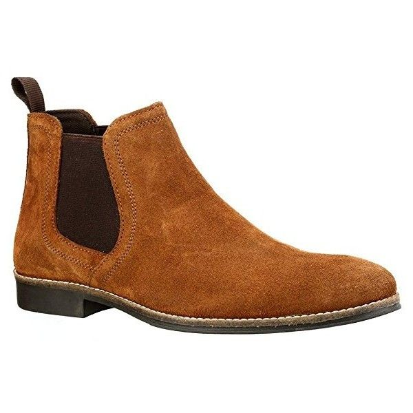Red Tape Stockwood Tan Suede Classic Chelsea Boots 7 UK: Amazon.co.uk:... ($3,540) ❤ liked on Polyvore featuring shoes, boots, ankle booties, red tape, beatle boots, suede chelsea boots, tan ankle booties and tan chelsea boots