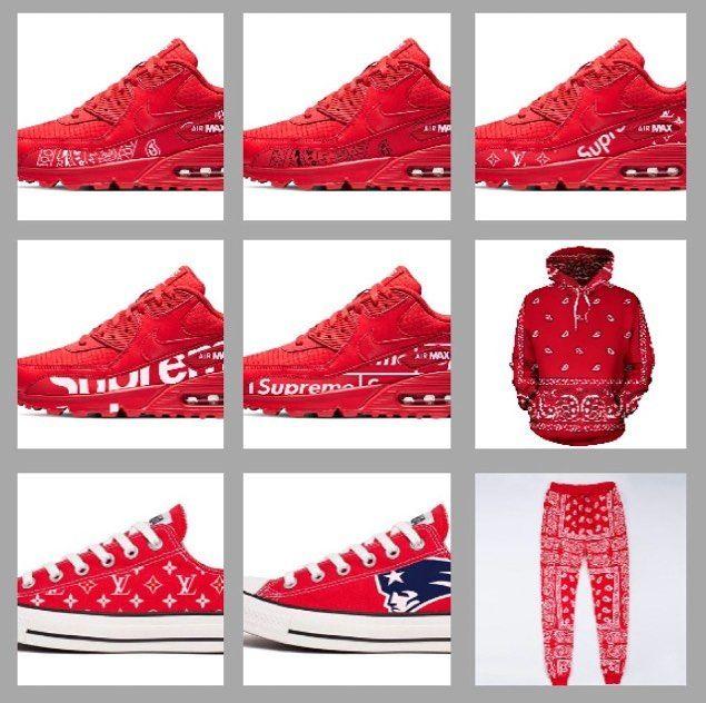 Red bandana, Bandana print