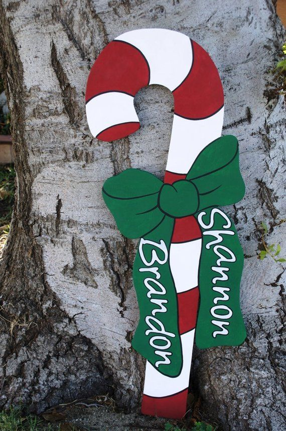 Christmas Candy Cane Wood Yard Art Outdoor Decoration Products Amazing Large Candy Cane Decorations Outdoors