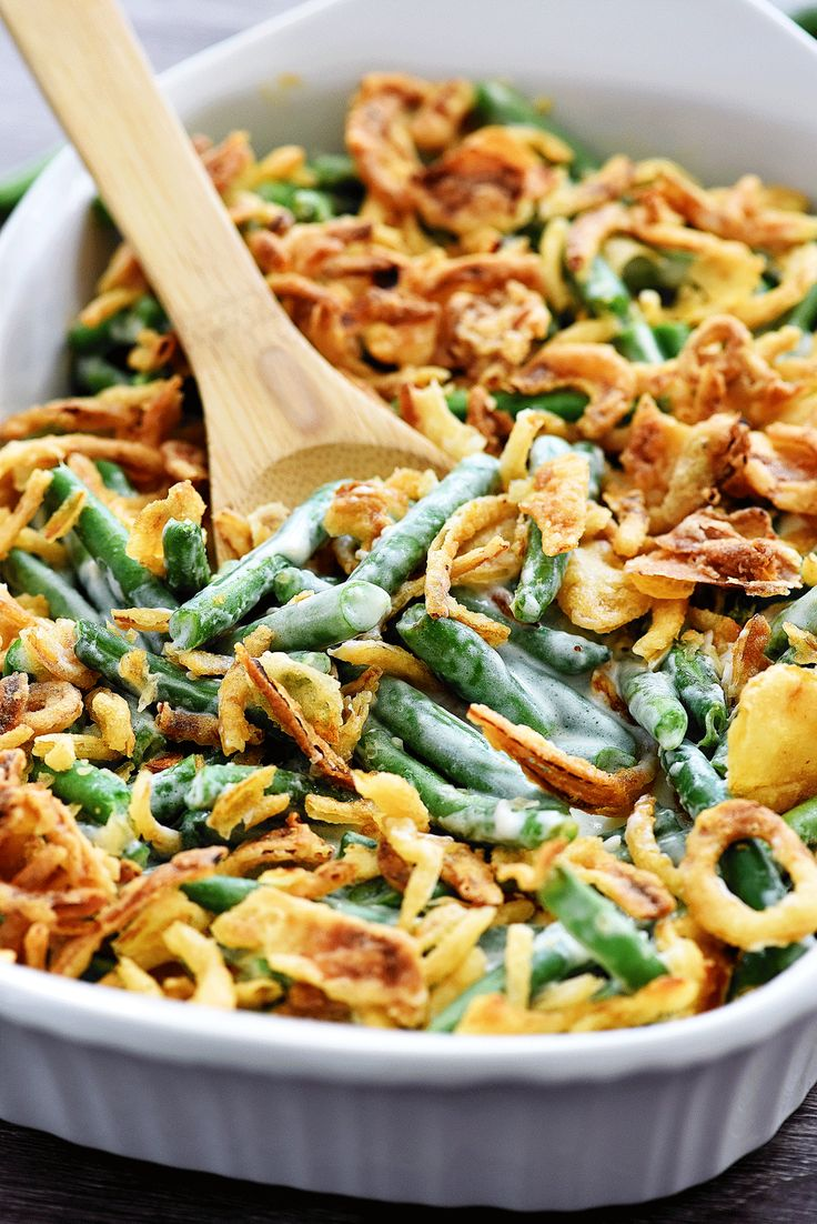 Yes, I admit it. I am a green bean casserole lover to the core! I not only make this classic dish at holiday dinners, but I make it year round with some of our favorite chicken dishes. I highly adapted this recipe from an old Food Network one. It's the only recipe I use because... Read More »