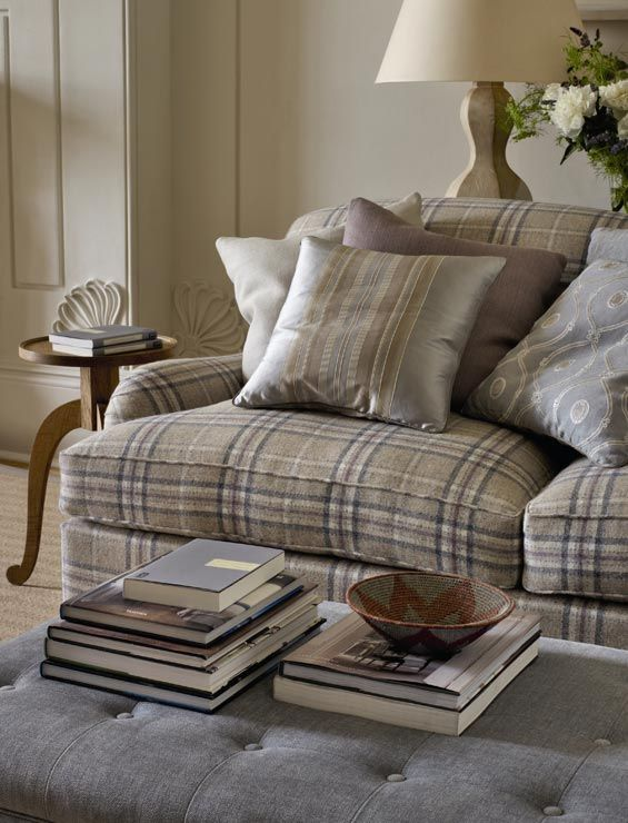 Tartan plaid sofa. Gentlemans Country Club type sofa