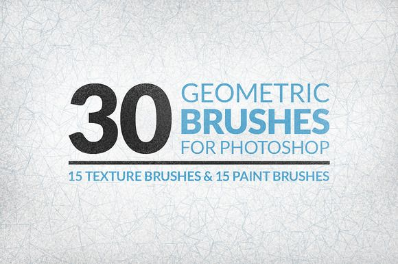Check out 30 Geometric Texture Brushes by Gabor Monori on Creative Market