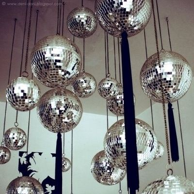 Disco Balls Decorations Interesting 20 Best Let's Disco Images On Pinterest  Disco Ball Mirror Ball Decorating Design