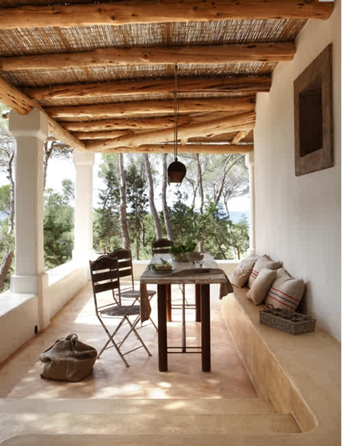 rustic greek style patio - Outdoor Patio Ceiling Ideas