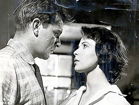 Richard burton with claire bloom in look back in anger 1959 directed by tony richardson - British kitchen sink films ...