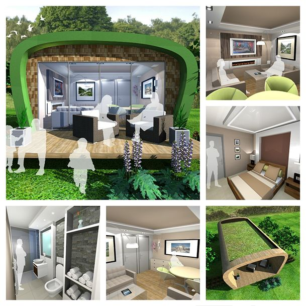 1000 images about granny pods multi generational for Flat pack garden room