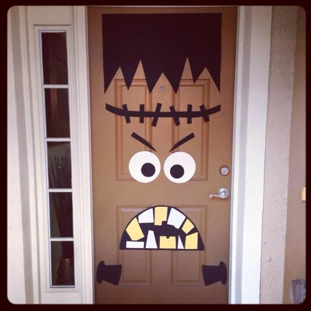 """""""Halloween Door Decor"""" - really great and cute way to ..."""