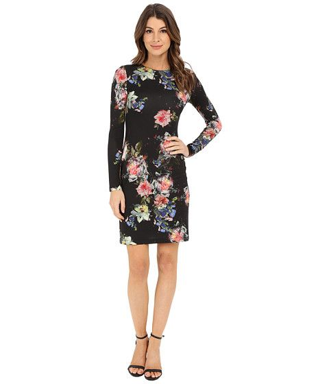 Karen Kane Long Sleeve Sheath Dress