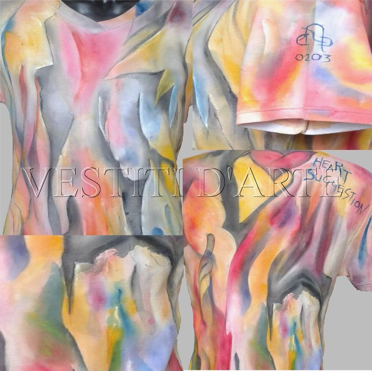 Hand painted tshirt size INTL L or L/XL. The garment can be reduced into a M or M/L size #clothing #fashion #tshirt #menstyle #clothingart #art #cool #awesome #artclothing #weddingtshirts #festival #love #colourful #wearableart #plussize #plussizeclothing #hippieclothes #model #bohemian #bohemianclothing #boho #bohoclothing PLEASE SEE FULL GARMENT DETAILS AT https://www.etsy.com/listing/239777731/
