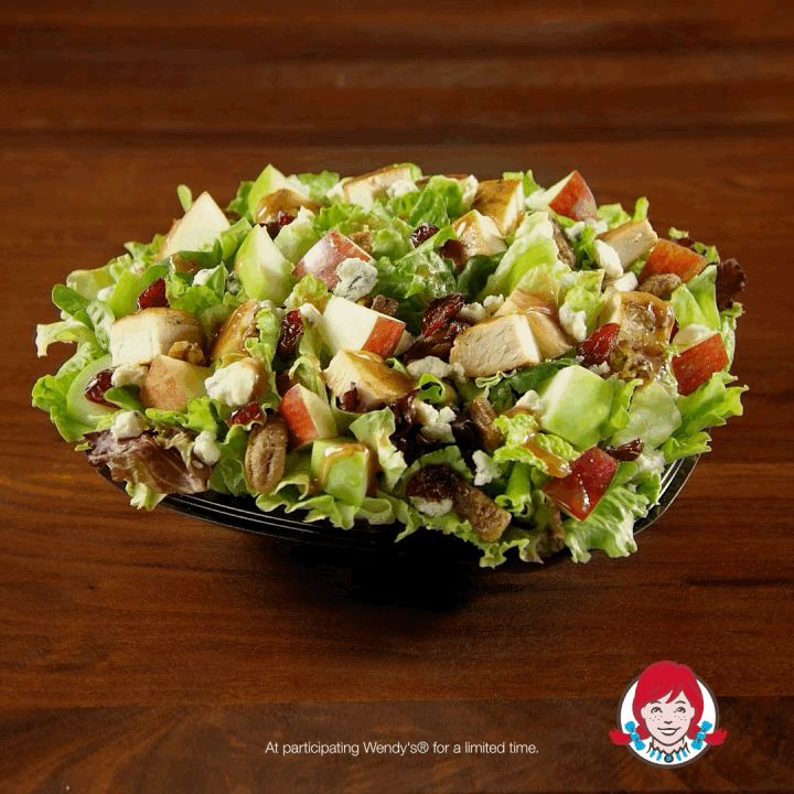 A perfect blend of fresh ingredients are what make Wendy's Apple Pecan Chicken Salad look so good — and taste even better.