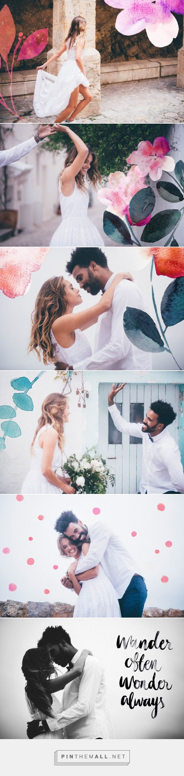 Watercolor paintings over your wedding photographies » Lovers Love Loving - http://www.loversloveloving.com/en/bodas-loversloveloving/fun-wedding-at-dalt-vila