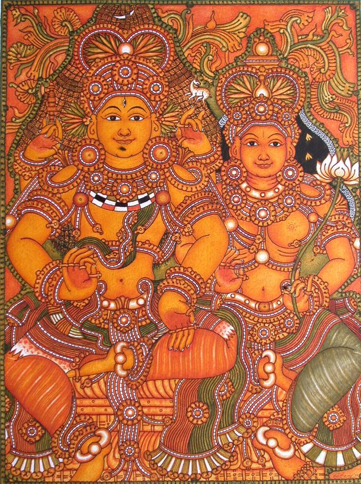 Kerala murals google search kerala murals pinterest for A mural is painted on a