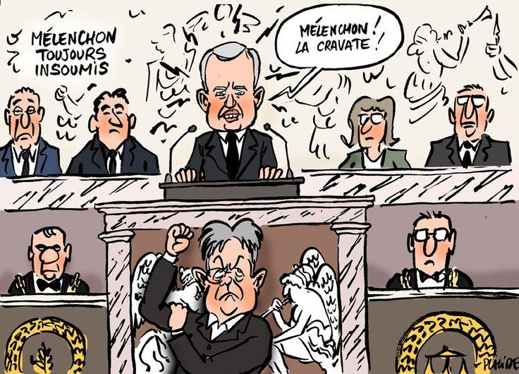 Placide - De Rugy vise Mélenchon dans son premier discours de président de l'Assemblée