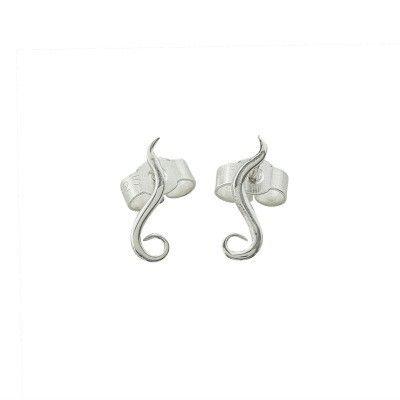 Tiny India ear studs in silver - Andrea Eserin - Unique contemporary jewellery