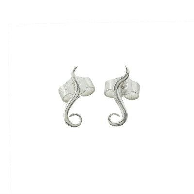 Tiny India ear studs in silver - Andrea Eserin - Unique contemporary jewellery