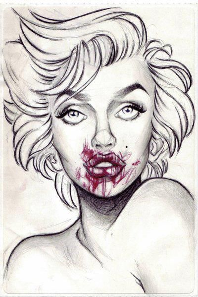 18 Best Zombie Art Color Pages Images On Pinterest Adult Marilyn Coloring Pages