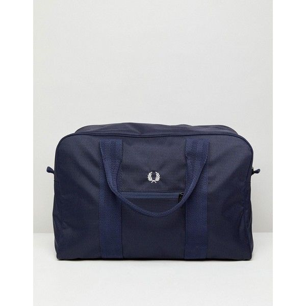 Fred Perry Checked Twill Holdall in Navy (8.360 RUB) ❤ liked on Polyvore featuring men's fashion, men's bags, navy, mens sports bag and mens holdall bag