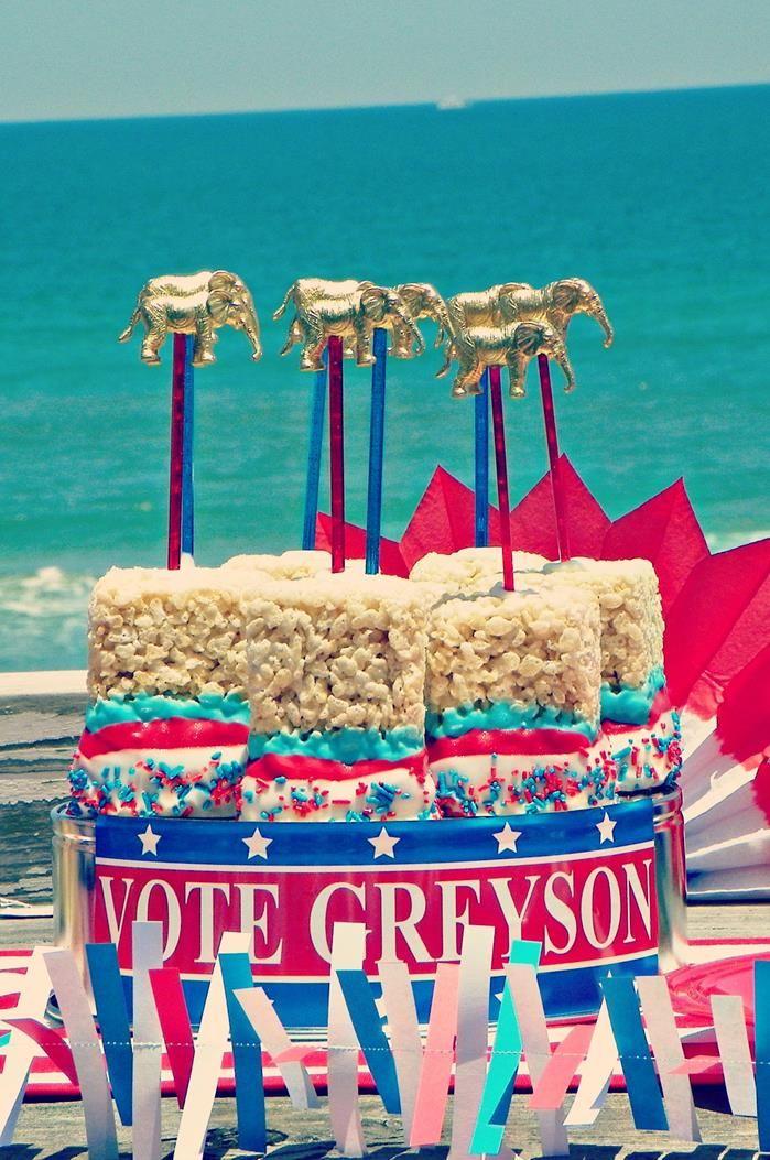 Greyson for President Birthday Party via Kara's Party Ideas | Kara'sPartyIdeas.com #president #party #election #idea (11)