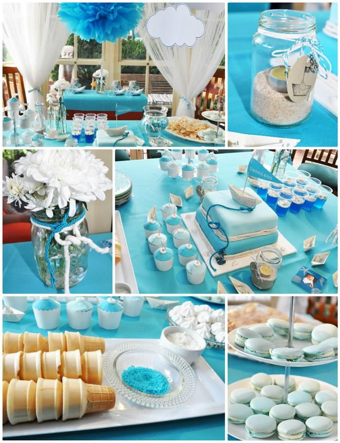 Paper Boat Nautical Birthday Party