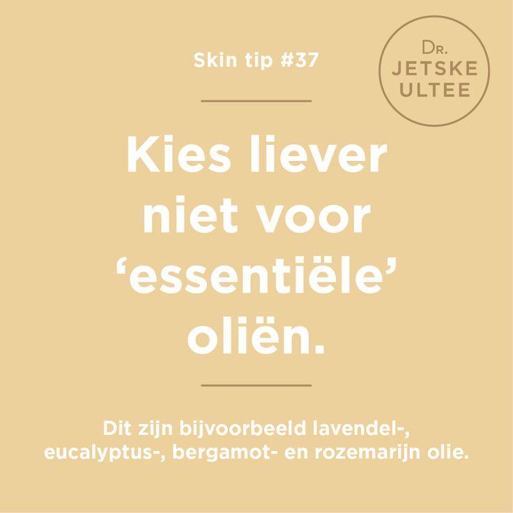 Skin tip #37 - Kies niet voor een essentiële maar een plantaardige olie als verzorging voor je lichaam en gezicht. Essentiële oliën kunnen je huid irriteren. #skintip #skincare #bodycream #skin #advice #tips #winter #cold #oil #rosamary #lavendel #bergamot #eucalyptus