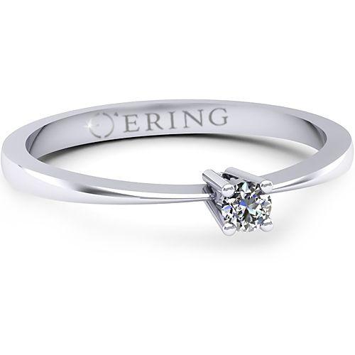 Inelul este realizat din aur alb 14k, greutate: ~1.00gr.                                  Produsul are in componenta sa: 1 x diamant, dimensiune: ~2.50mm, greutate: 0.06ct , culoare: G, claritate: VS2, forma: round