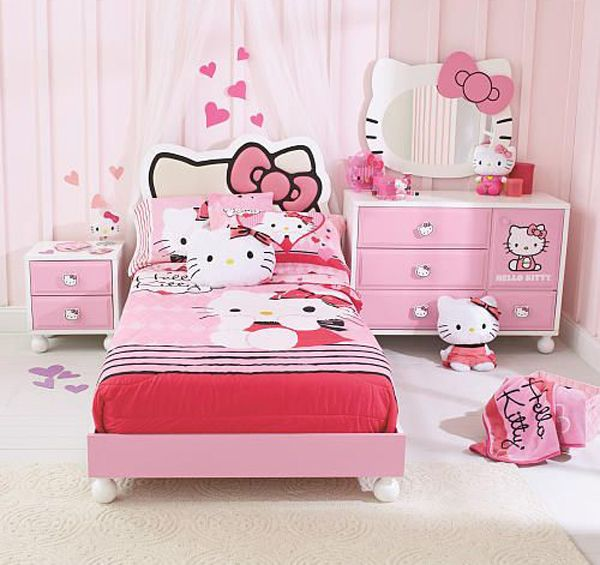 25 hello kitty bedroom theme designs home design and interior - Decoration Hello Kitty Chambre