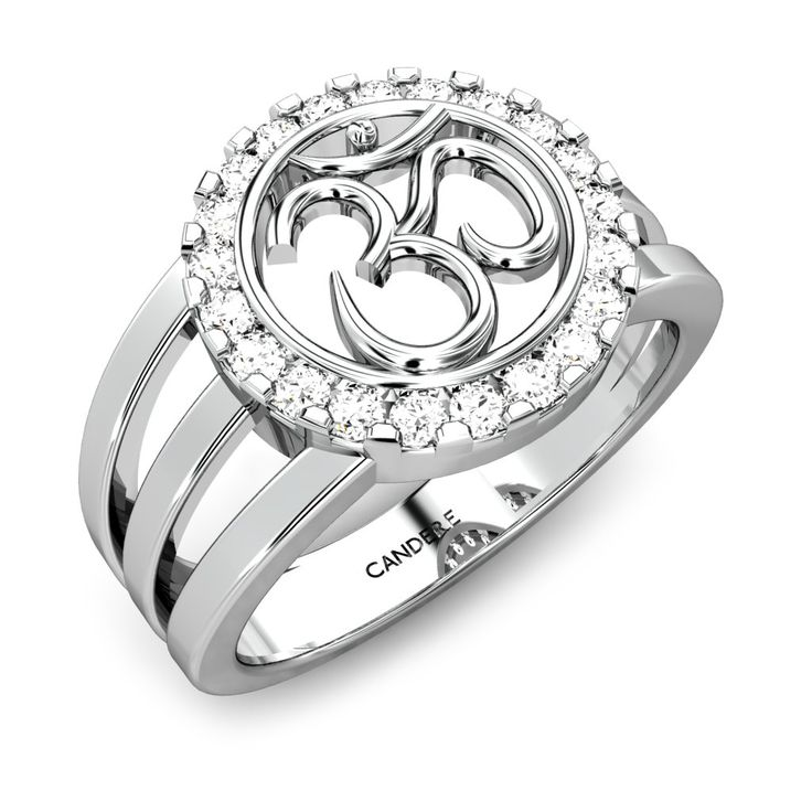 Candere Om Diamond Ring