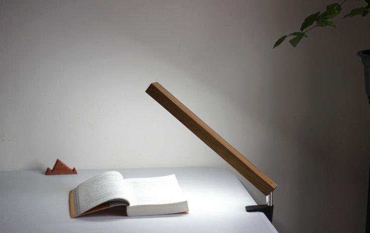 Bois de LED lampe lampe LED bois lampe à pince par industlamp