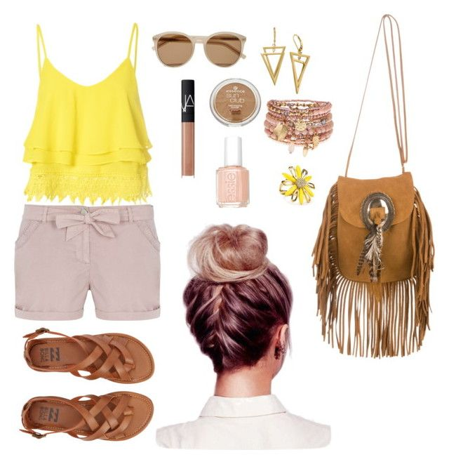 """Summer voyage"" by elina-fayzulina on Polyvore featuring мода, Dorothy Perkins, Glamorous, Billabong, Yves Saint Laurent, Accessorize, Kate Spade, NARS Cosmetics и Essie"