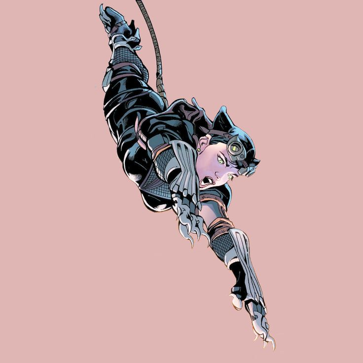 Catwoman, the costumed alias persona of Selina Kyle, is a cat burglar with an on-again, off-again, romantic relationship with Batman. She is shown as a woman who is very strong-willed, independent and morally dubious.