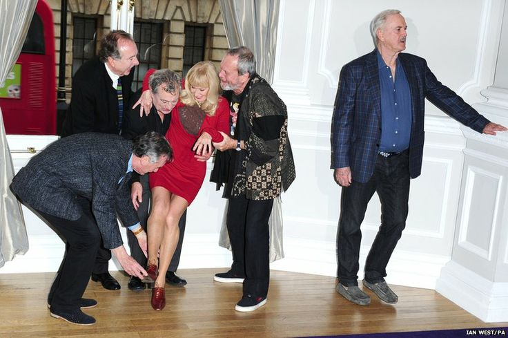 Michael Palin, Eric Idle, Terry Jones, Carol Cleveland, Terry Gilliam and John Cleese announce plans for Monty Python at the Corinthia Hotel in London for a one-off monty Python show.