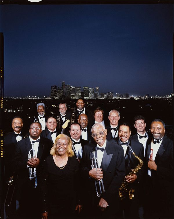 The late, great Calvin Owens with his world-famous Jazz and Blues Orchestra, from the Ewasko People Gallery.