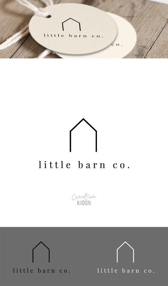 Logo simple granero. Logotipo de la tienda. Logotipo de la empresa de bienes raíces. Logotipo de inmobiliaria moderna. Diseño de Logo de casa. BRICOLAJE de la marca. Plantilla PSD editable. #0499.