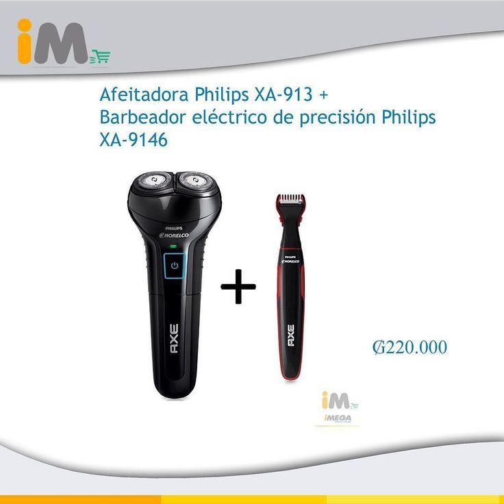 Combo: Afeitadora Philips XA-913  Barbeador eléctrico de precisión Philips XA-9146  Cabezal flexible que se adapta a las curvas de tu rostro y así obtienes un afeitado más cómodo y al ras. Dura hasta 30 min de uso continuo con una sola carga. Afeitadora lavable para mayor higiene. Puedes usarla en húmedo o en seco sin gel ni ningún tipo de loción.  Disfruta de una afeitada perfecta.  Adicional incluye el barbeador eléctrico Philips con el que garantizas una barba pulcra y bien definida con…