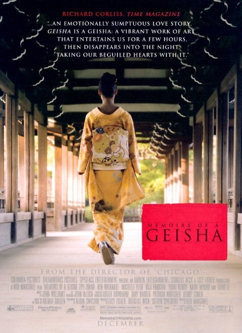 """Memoirs of a Geisha"" poster:"