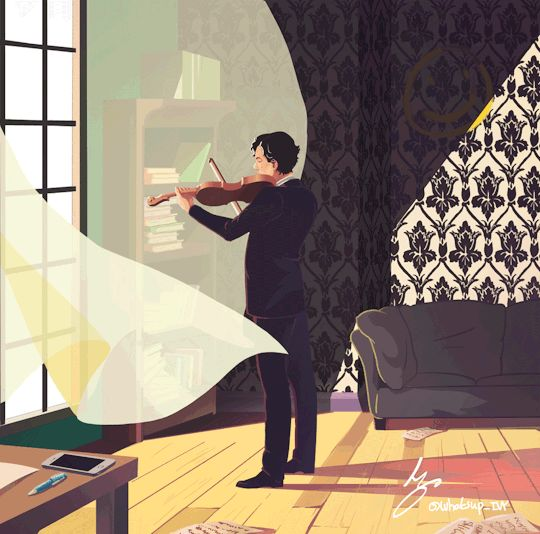 #Sherlock and his violin. Never a more beautiful love story written ☺♥