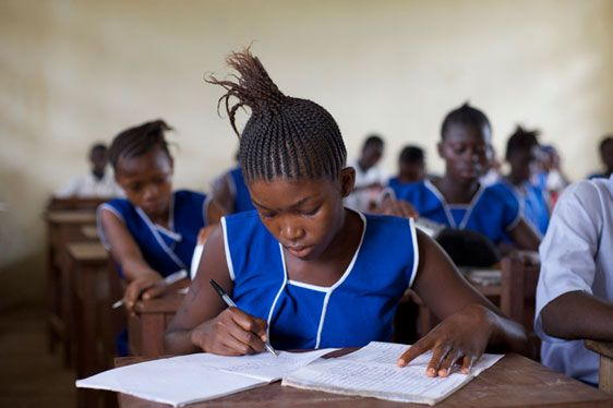 Choosing the right school for your child.  8 Sneaky butsimple tips. Photo Credit Aubrey Wade Photographer -Sierre Leone International Rescue Committee