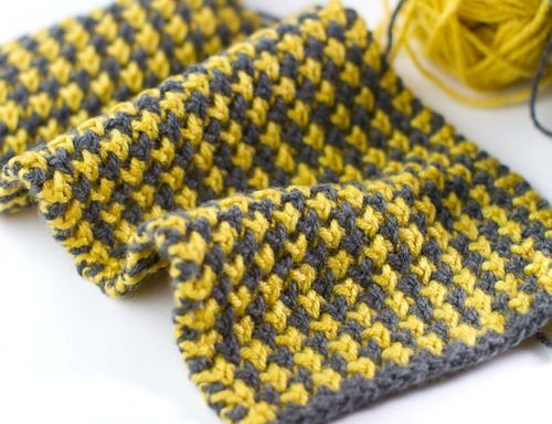 Mustard and Grey Scarf-014