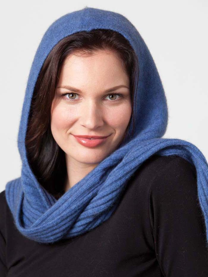 Possumdown Hooded Scarf - warm and cuddly