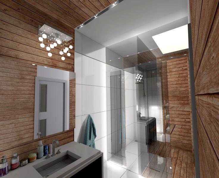 Łazienka z sauną.