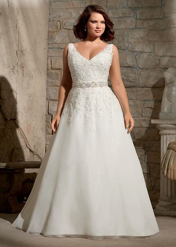 Dress style 3173 // From the Julietta plus size collection by Mori Lee.
