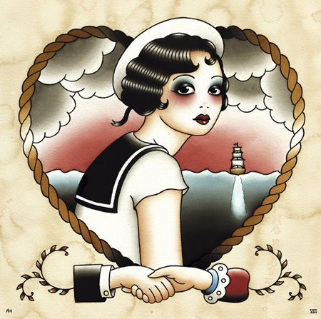 Sailors Sweetheart Angelique Houtkamp: Old Schools, The Artists, Girls Tattoo, Sailors Tattoo, Tattoo Artists, Nautical Tattoo, Sailors Sweetheart, 20S Style, Angeliqu Houtkamp