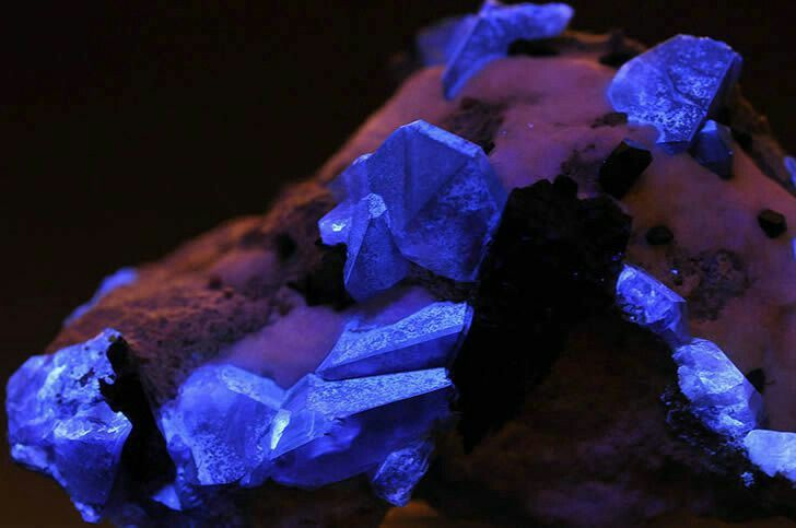 """Benitoíta.  Esta deslumbrante piedra azul solo ha sido encontrada cerca de las aguas del río San Benito en San Benito County, California. Algunas fuentes también refieren que fue descubierta en cantidades limitadas en Japón y en el estado norteamericano de Arkansas, pero estos ejemplares no poseen """"calidad de piedra preciosa"""".  Una de las características más destacables de la benitoíta es su color azul incandescente bajo luz ultravioleta. Lo que resulta extraño es que, a pesar de haber sido…"""