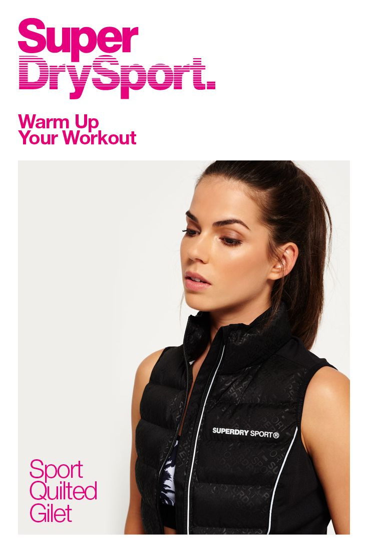 Shop Superdry Womens Sport Quilted Gilet in Black Sd Sport. Buy now with  free delivery from the Official Superdry Store.